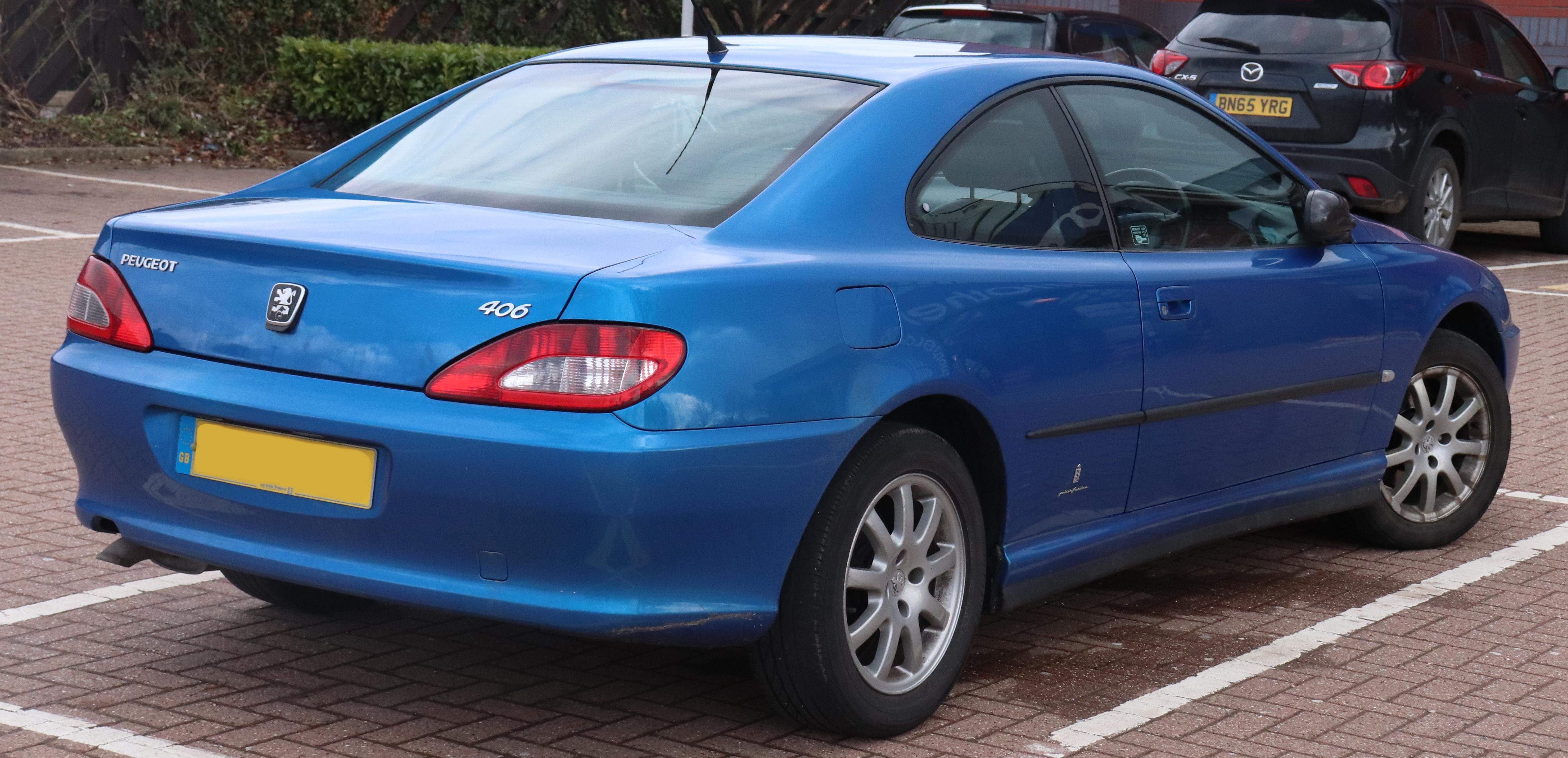 Ficheiro 2003 Peugeot 406 Hdi Coupe Se 2 2 Rear Jpg Wikipedia A Enciclopedia Livre