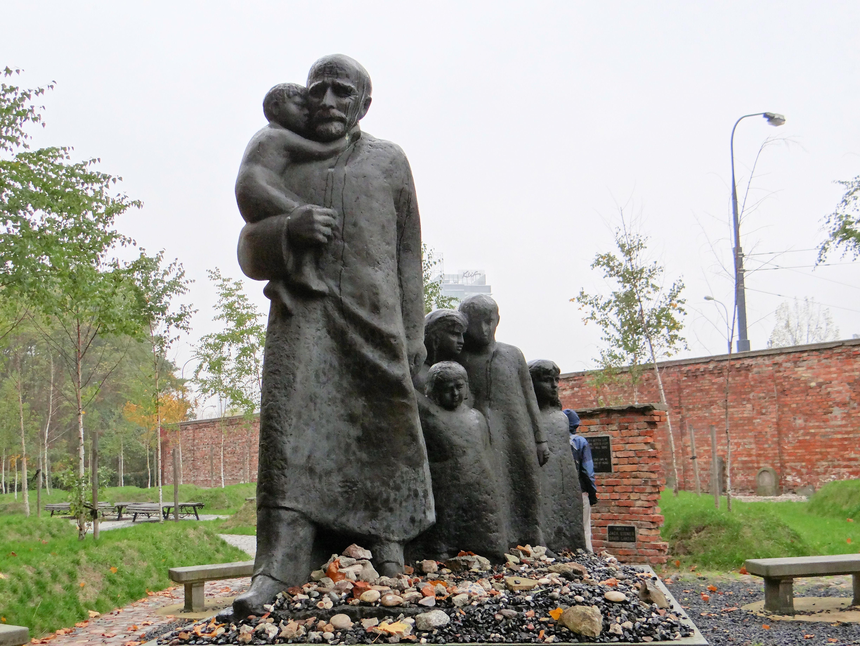 ... :251012 Janusz Korczak monument at Jewish Cemetery in Warsaw - 03.jpg