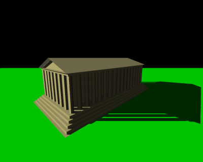 Ein einfach berechneter Schatten. Quelle: Wikipedia
