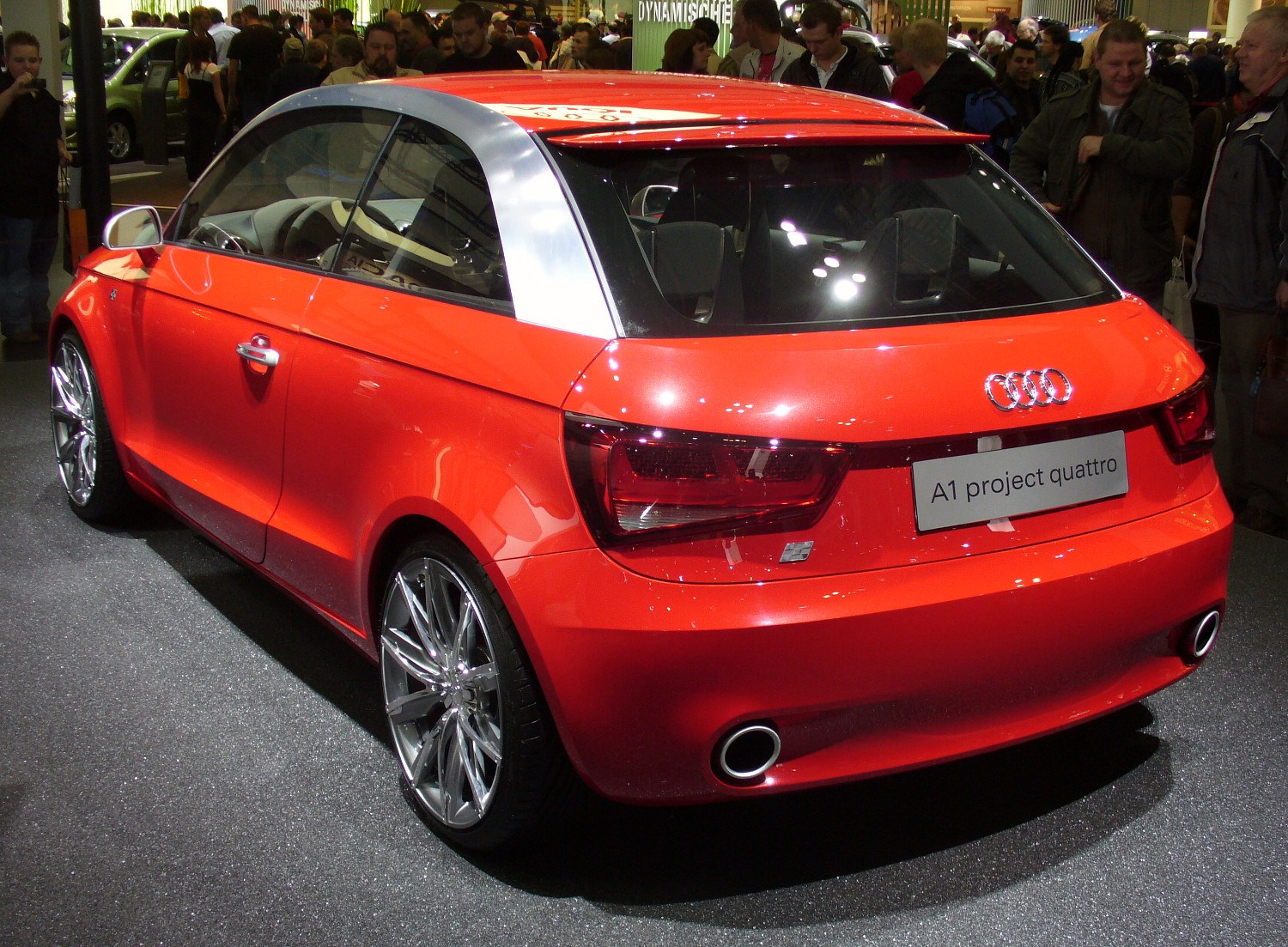 file audi a1 metroproject quattro heck jpg wikipedia. Black Bedroom Furniture Sets. Home Design Ideas