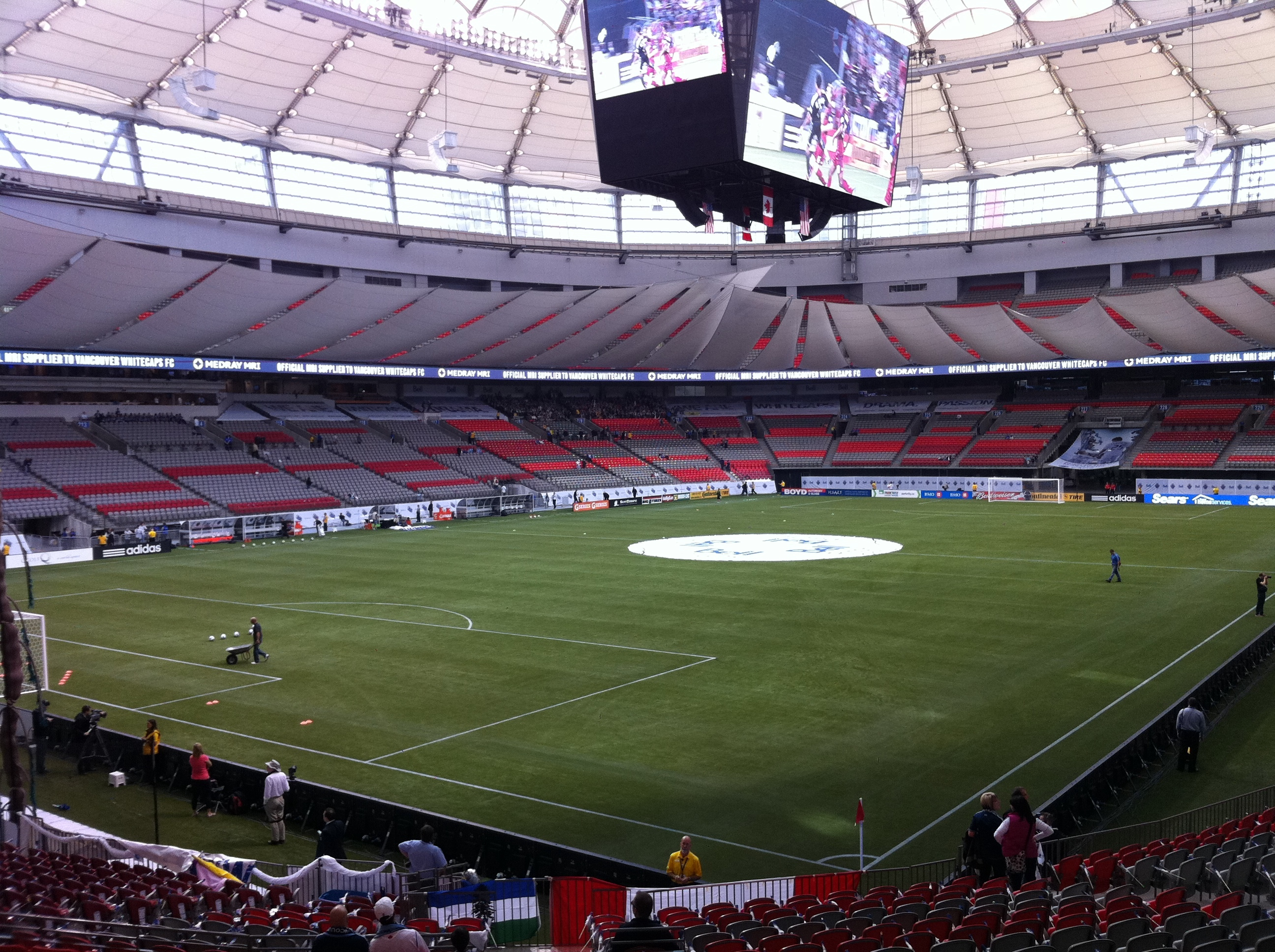 Vancouver Whitecaps Bc Place Stadium Major League Soccer Usa Pinterest Bc Place Soccer Usa And Soccer Stadium