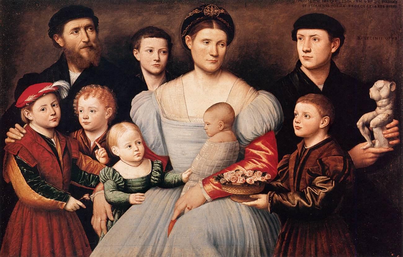 Portraits of Arrigo and Agnese Licinio and Their Children