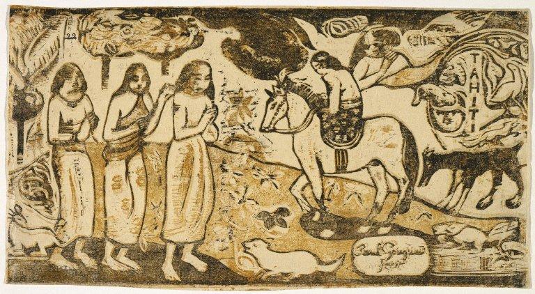 Fine Art Print The Smile Gauguin Woodcuts Le Sourire