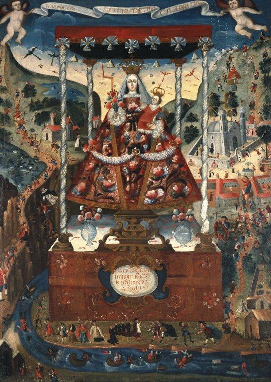 Nuestra Señora de Cocharcas under baldakin, Brooklyn Museum