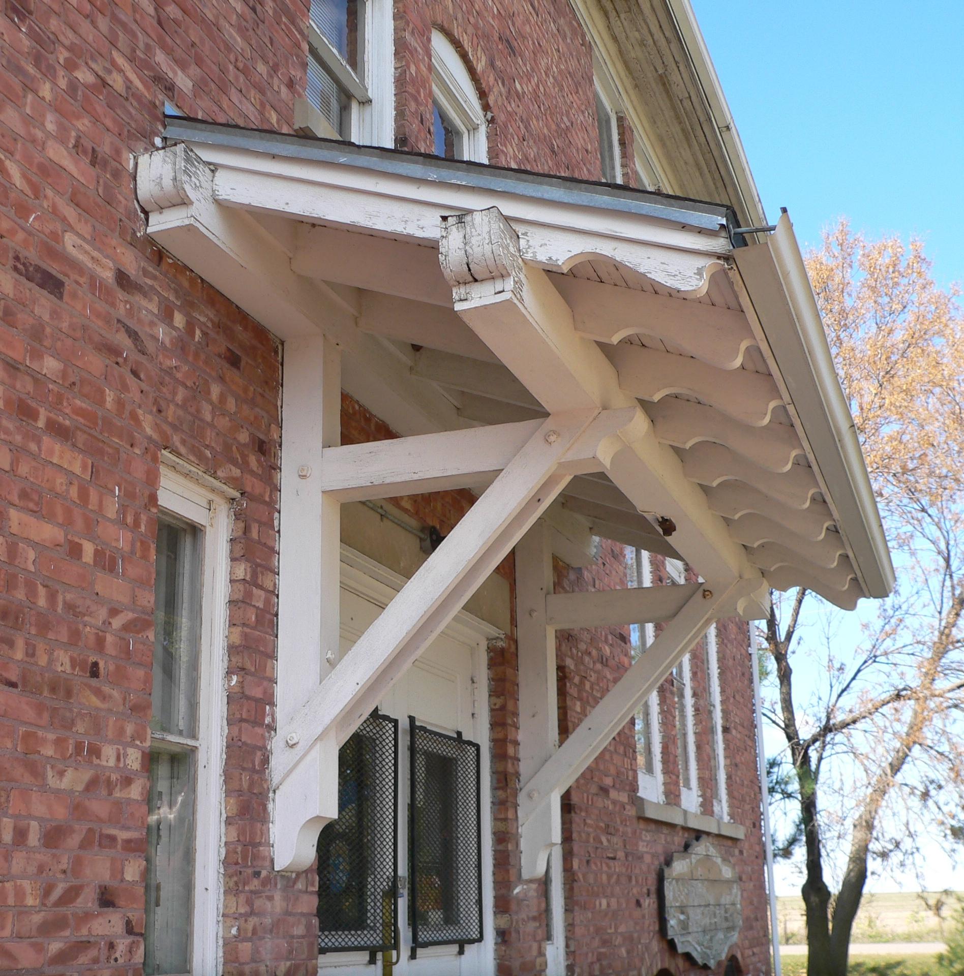 File Butte Ss Peter Paul School E Side Porch Roof Jpg