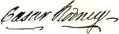 Caesar Rodney Signature