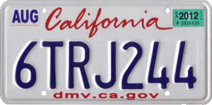Vehicle registration plates of California - Wikipedia