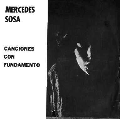 Portada original del segundo álbum de Mercedes Sosa, Canciones con fundamento (1965), publicado por el sello independiente El Grillo.