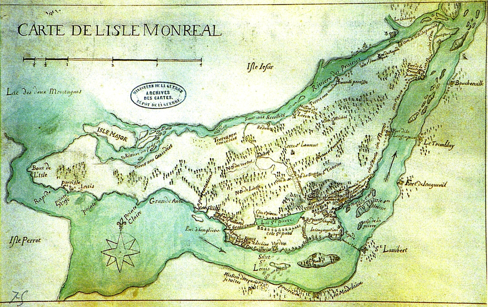 Montreal Street Map Map of Montreal 1700