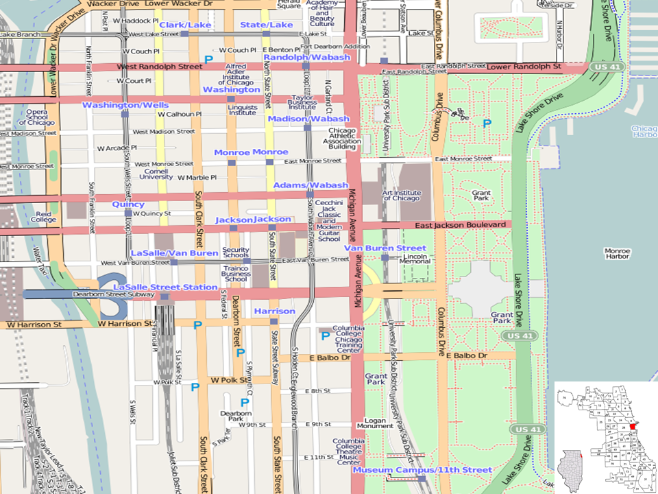 Chicago Loop Map File:Chicago Loop location map.png   Wikimedia Commons Chicago Loop Map