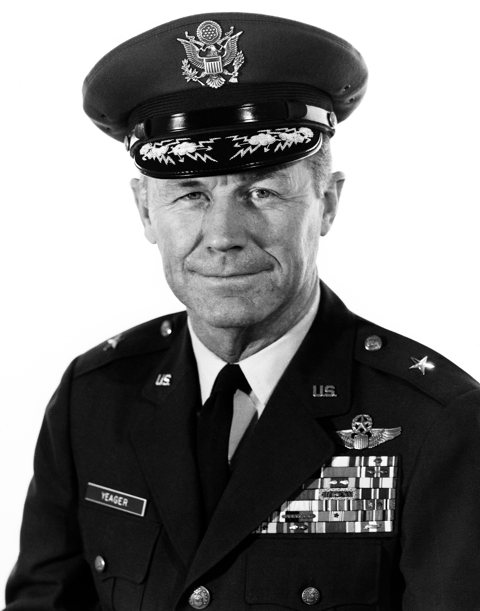 a biography of general chuck yeager Charles elwood chuck yeager ( born february 13, 1923) is a retired brigadier general in the united states air force and noted test pilot in 1947, he became the.