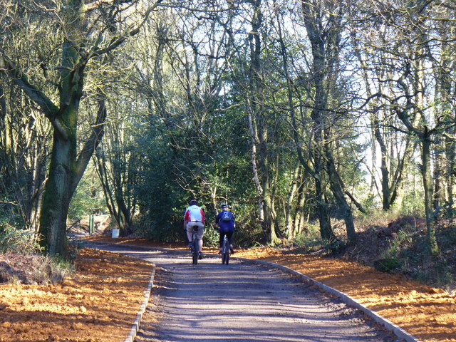 Cycling on Gibbet Hill - geograph.org.uk - 684160
