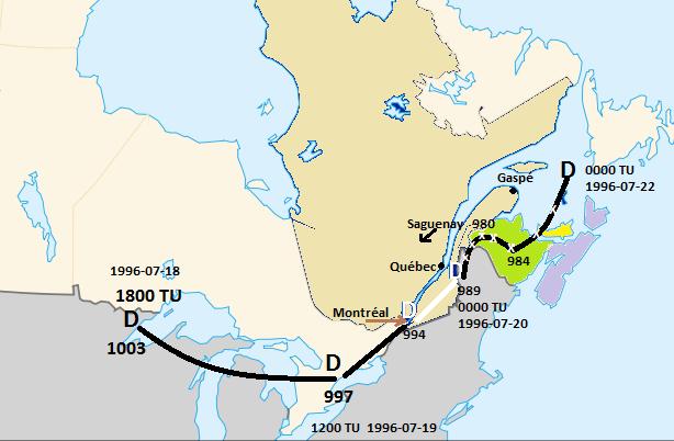 Carte Canada Chicoutimi.Deluge Du Saguenay Wikipedia