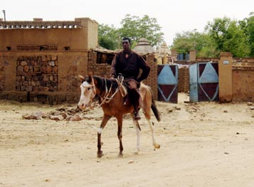A mounted Janjaweed militiaman. The Janjaweed are a militia operating in western Sudan and eastern Chad. Darfur report - Page 4 Image 1.jpg