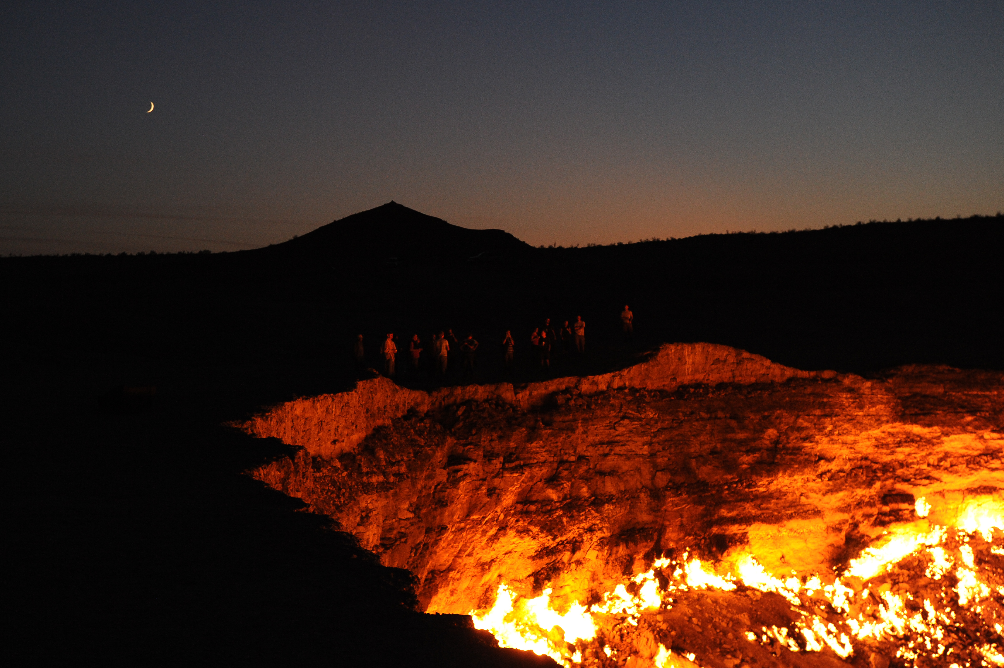 Flaming Door to Hell in the Devil's Sandbox along Infamous Silk Road