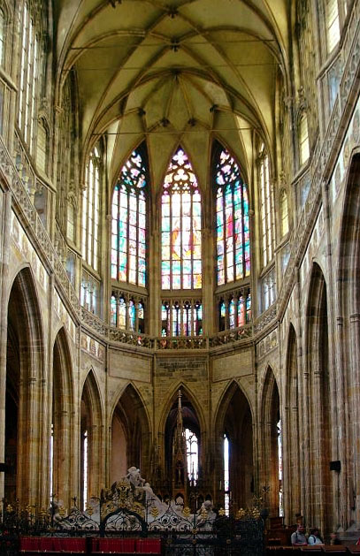 High choir of the St. Vitus Cathedral in Prague.