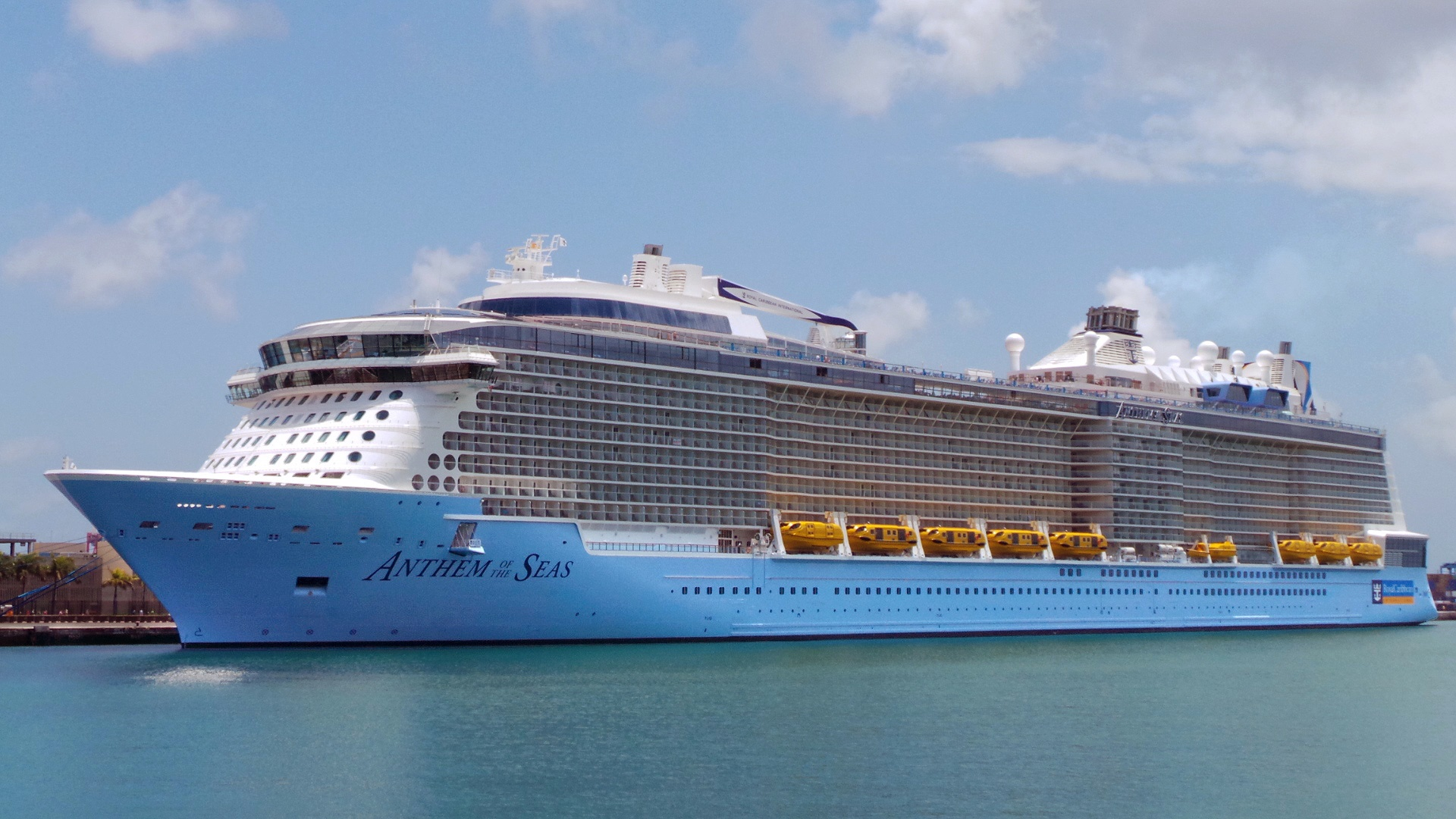File El Crucero Anthem Of The Seas En El Muelle De Santa