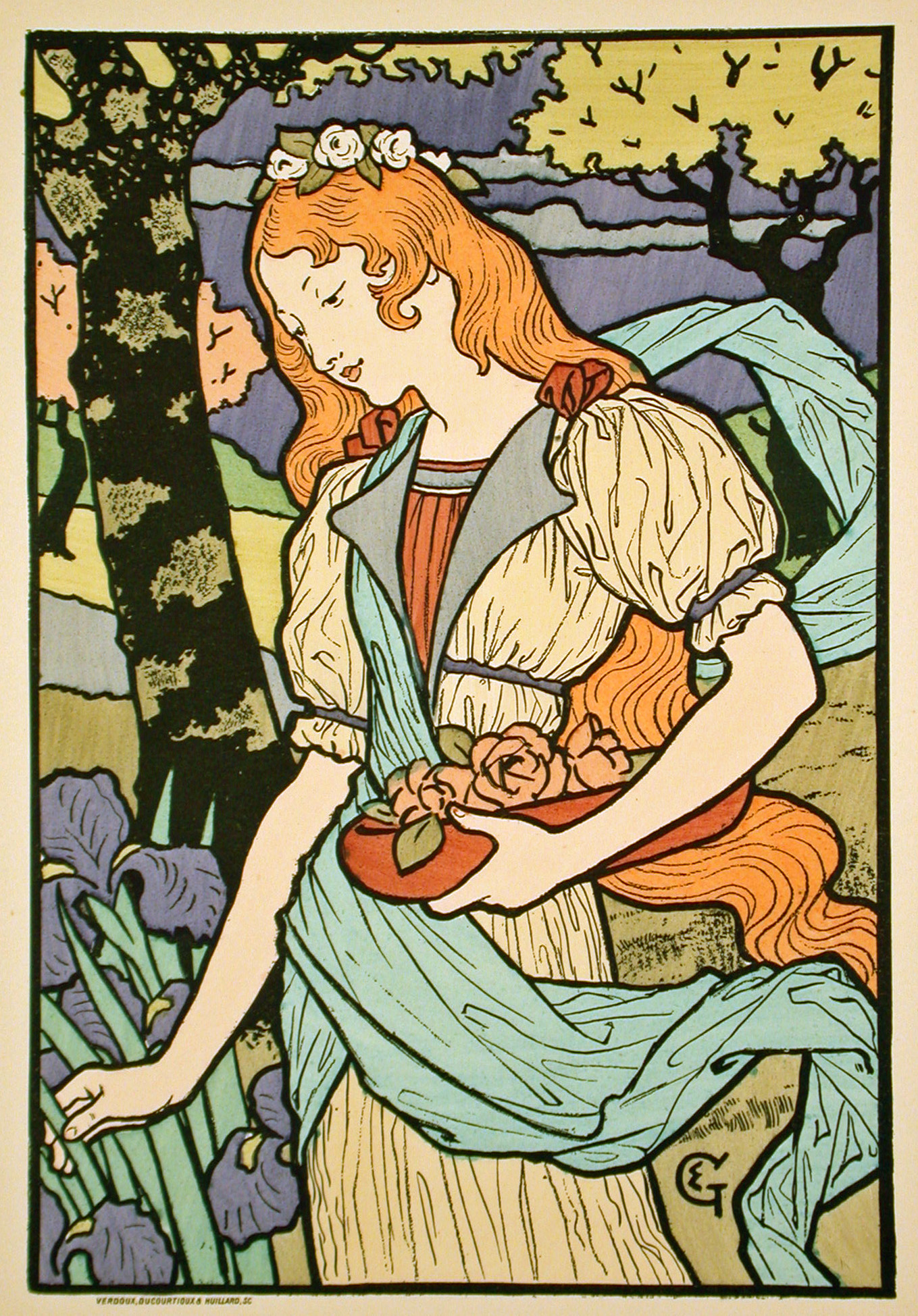 Poster design wikipedia - Eug Ne Samuel Grasset Poster For An Exhibition Of French Decorative Art At The Grafton Galleries 1893