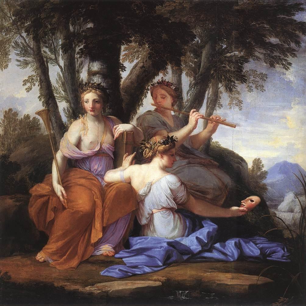 Eustache Le Sueur - The Muses - Clio, Euterpe and Thalia