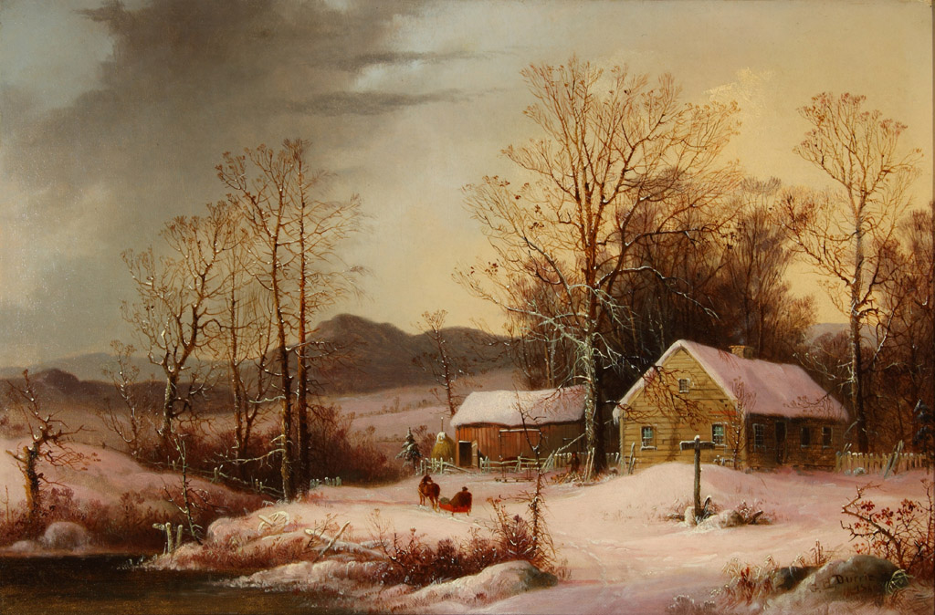 https://upload.wikimedia.org/wikipedia/commons/3/32/Farmstead_in_Winter_by_George_Henry_Durrie%2C_1860%2C_High_Museum_of_Art.jpg
