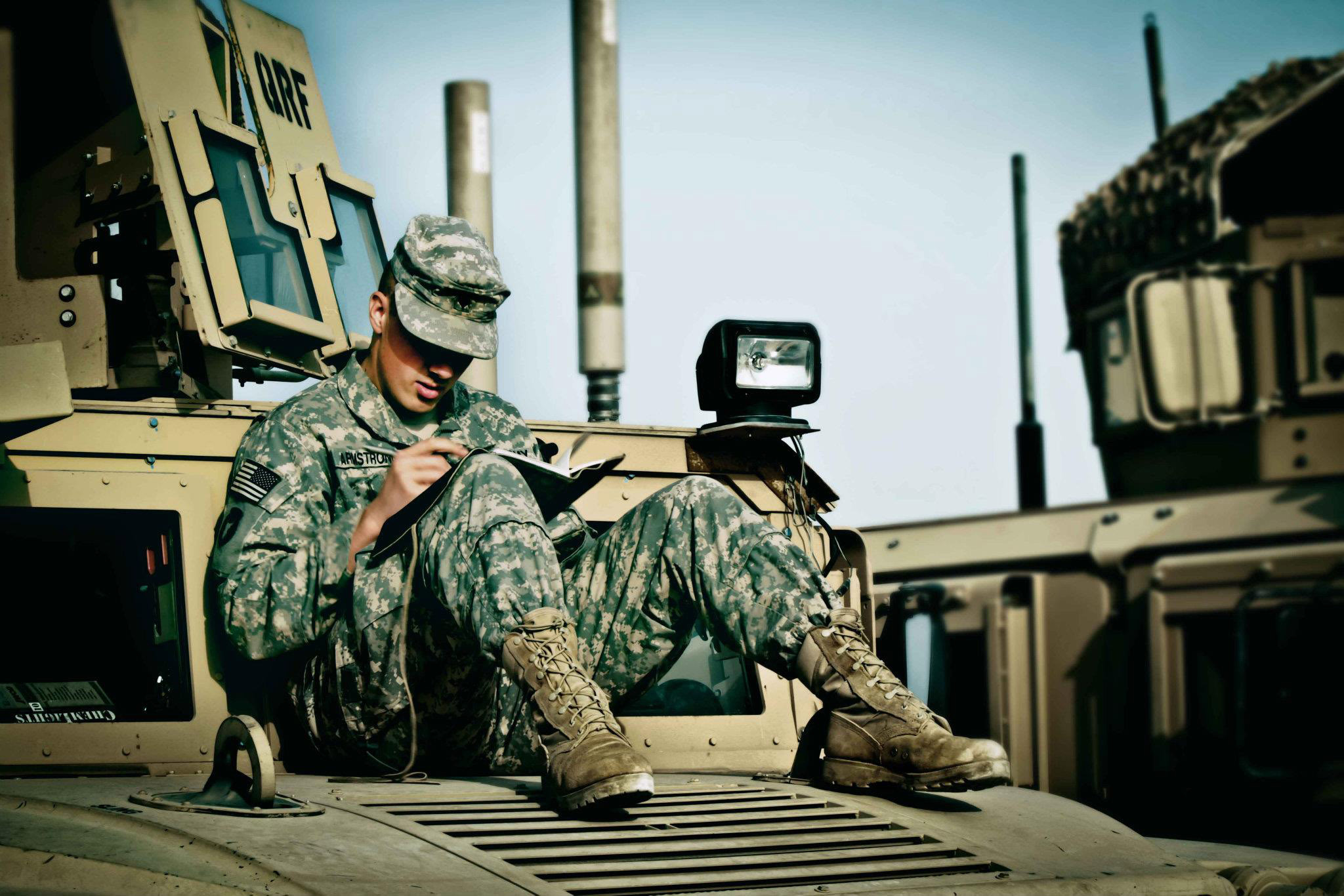 Image result for soldier writing home pictures