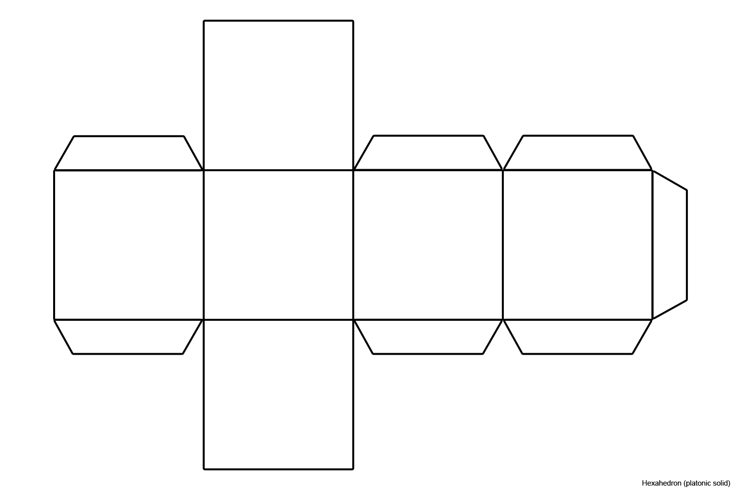 This is an image of Persnickety Printable Cube Template
