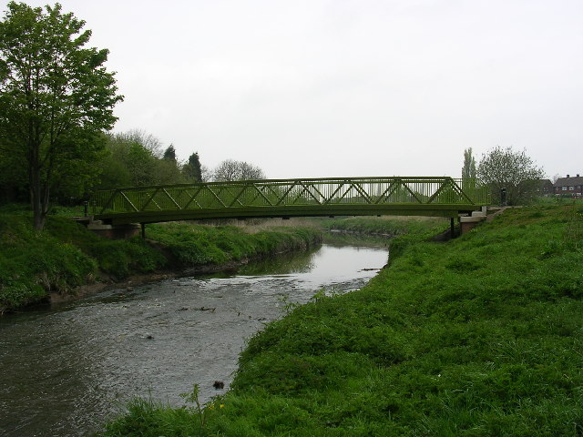 Footbridge over Glaze Brook - geograph.org.uk - 6199