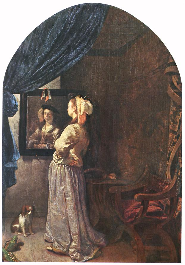 File:Frans van Mieris (I) - Woman before the Mirror - WGA15639.