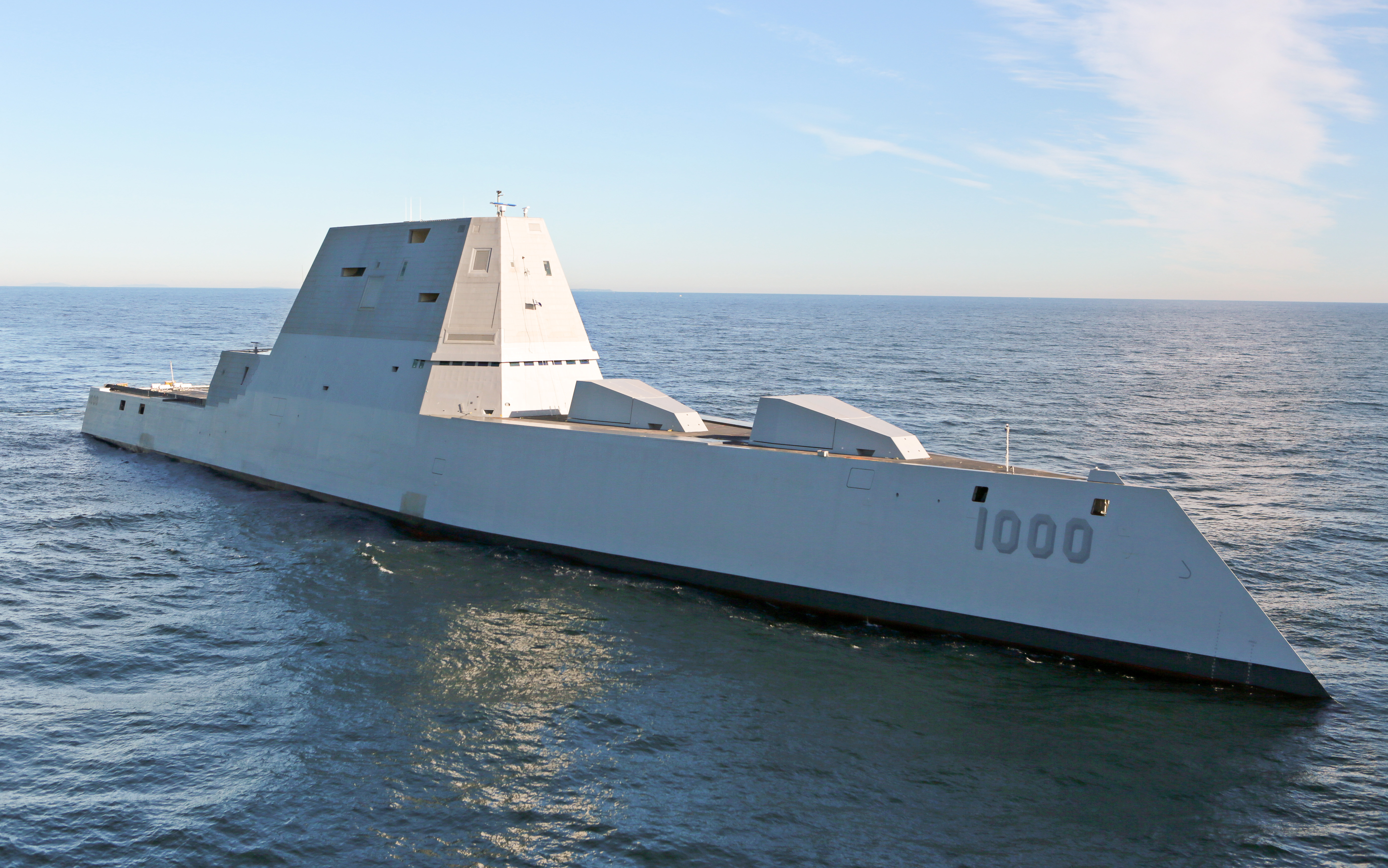 Zumwalt-class destroyer Future_USS_Zumwalt%27s_first_underway_at_sea
