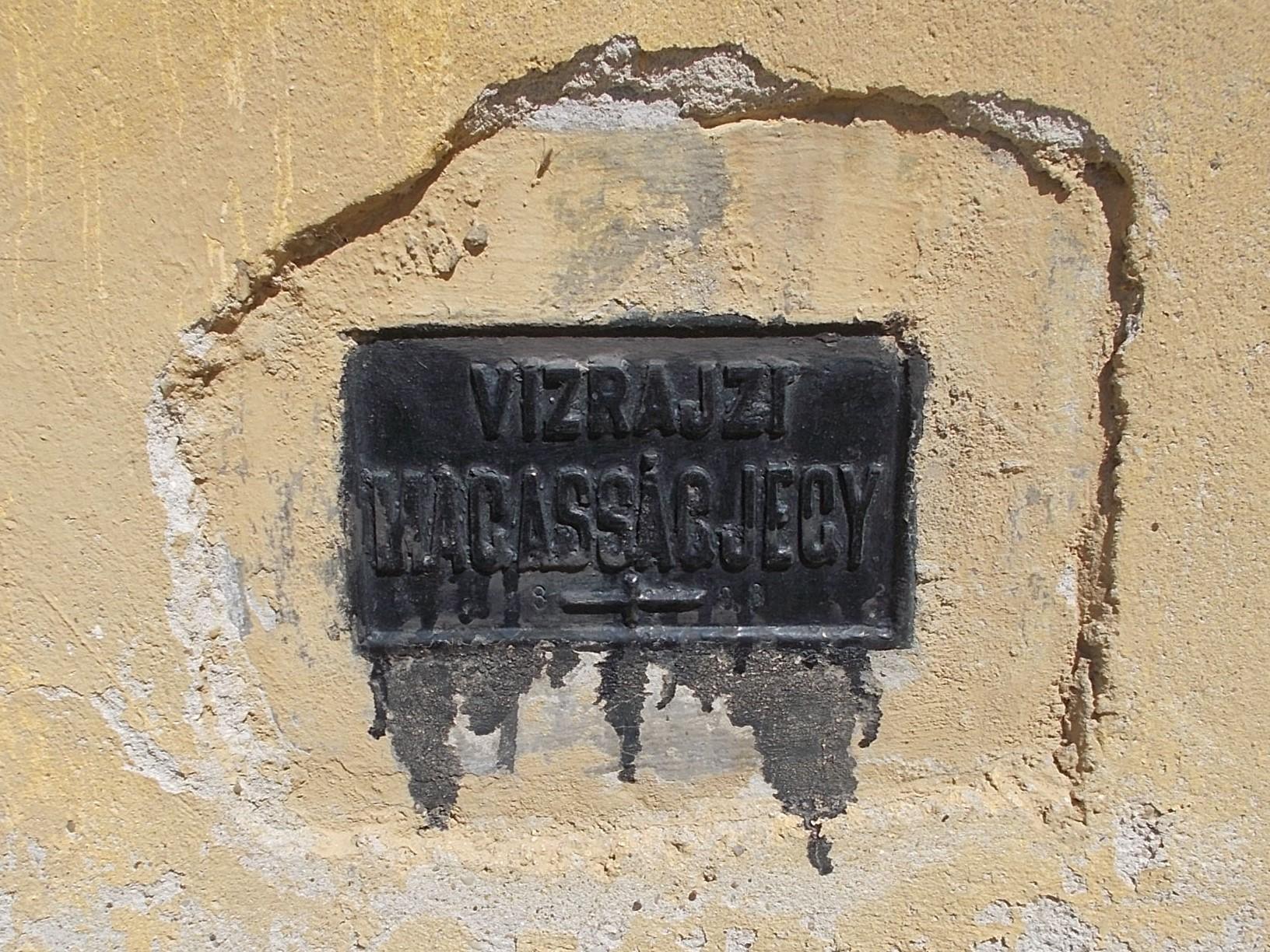 Town, Ráckeve, Pest County, Hungary. Magyar: Keresztelő Szent János római katolikus templom, (1799), 1893-as vízrajzi magasságjegy. - Pest megye, Ráckeve