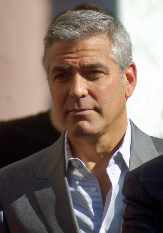 Attractive Grey Hair Man With Glasses Posing