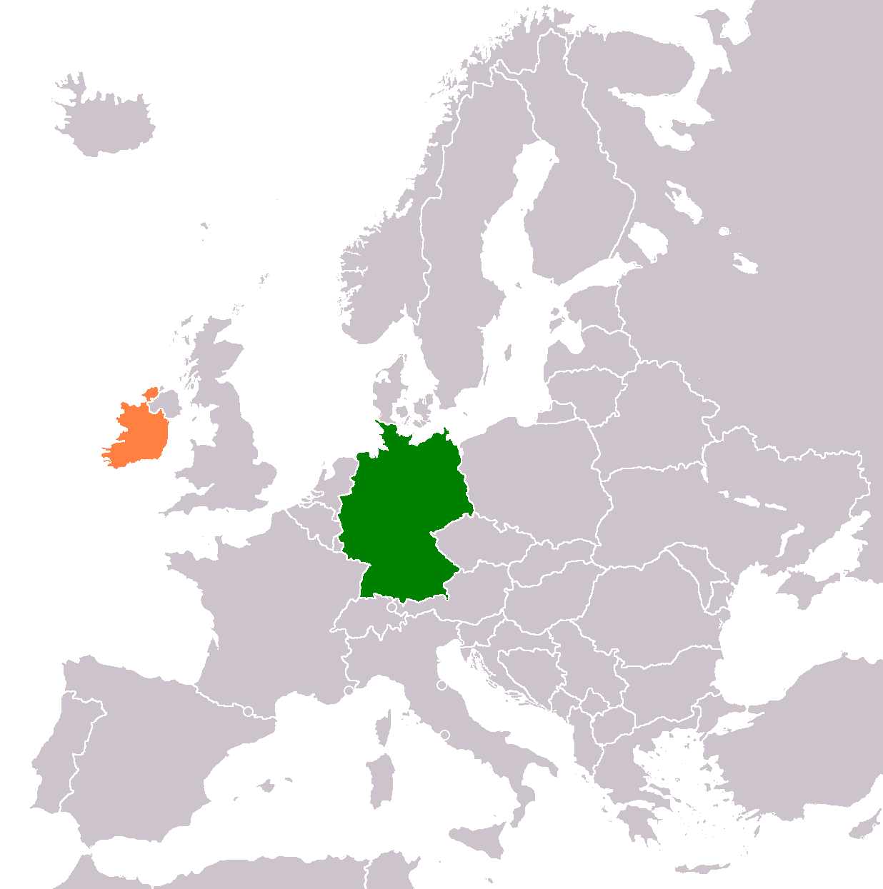 Map Of Quinn Ireland.Germany Ireland Relations Wikipedia
