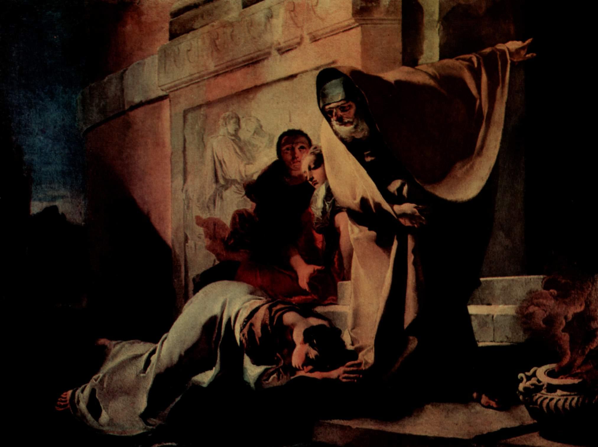 Giambattista Tiepolo, A expulsão de Agar (1719)