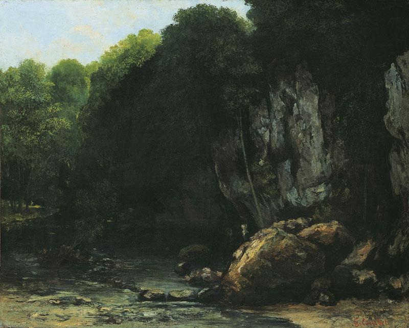 Le Ruisseau couvert (Le Puits-Noir), Gustave Courbet, 1865 - Cultea