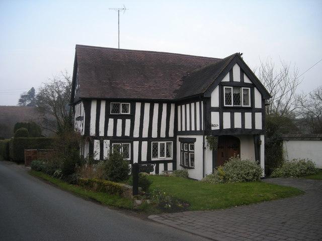 file half timbered house at stableford. Black Bedroom Furniture Sets. Home Design Ideas