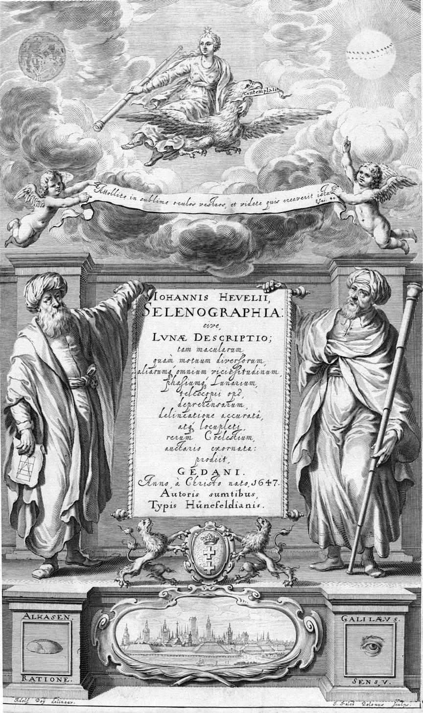0d0ccd8b3 رسم يُظهر ابن الهيثم ممثلاً العقل والمنطق، ويقابله غاليلو غاليلي، الذي  يُمثل الحواس.