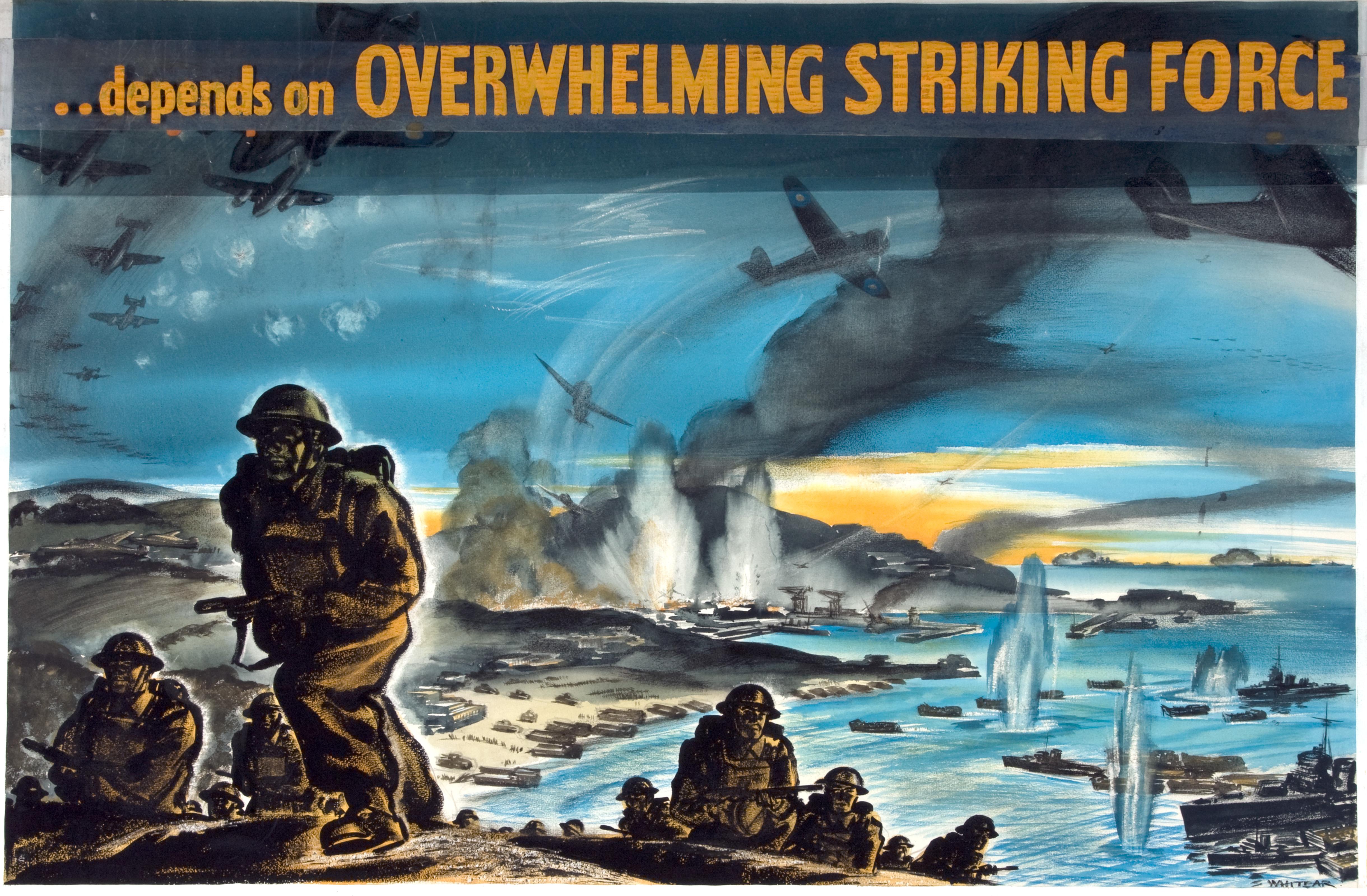 INF3-139 War Effort Victory depends on an overwhelming striking force Artist S Whitear.jpg