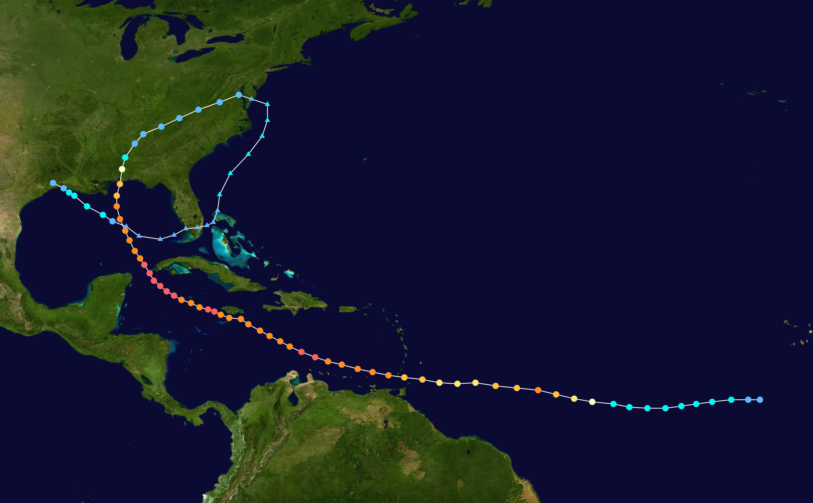Storm History Of Hurricane Ivan Simple English Wikipedia The Free Encyclopedia