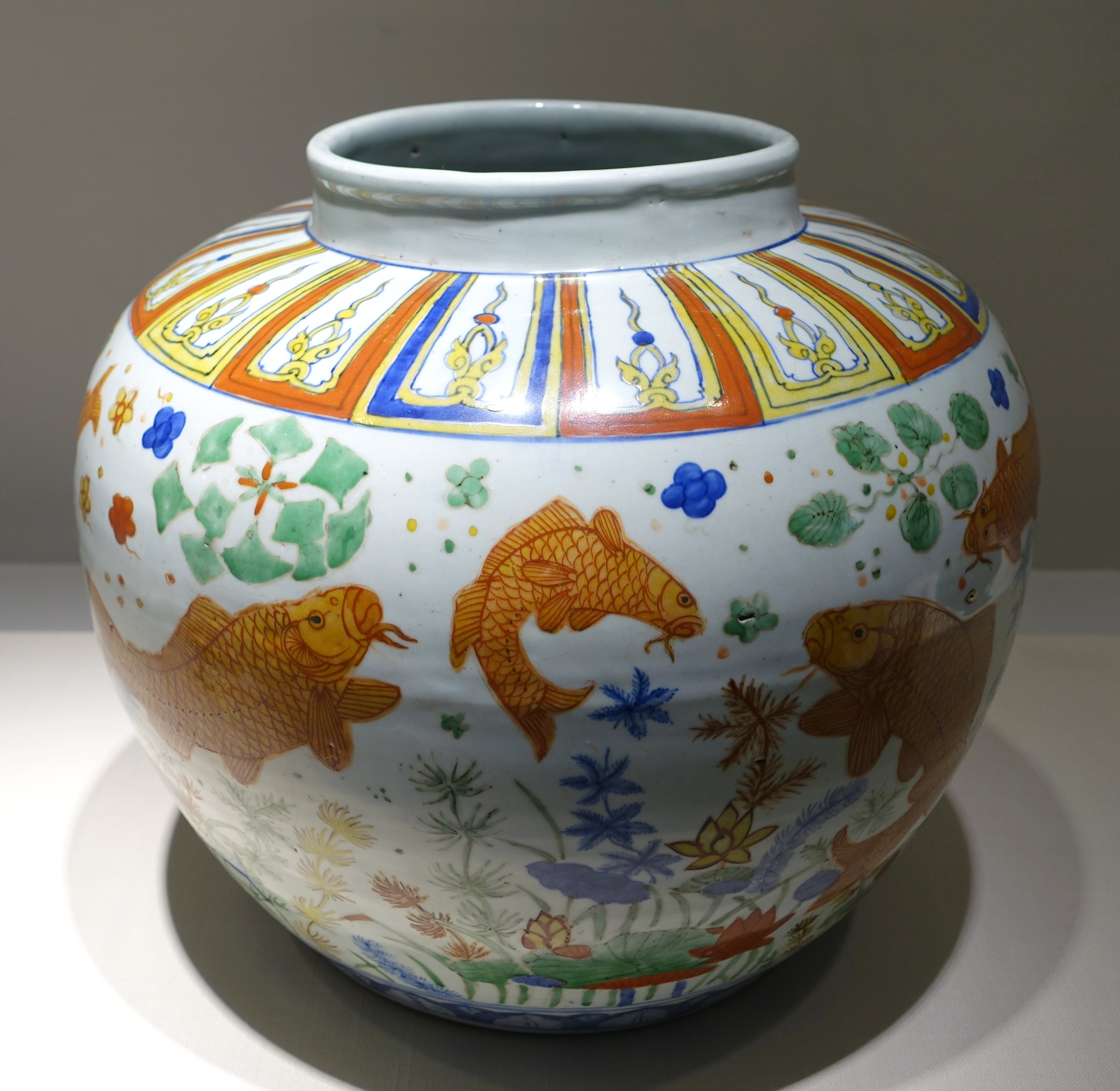 Filejar with fish and water weed design china jingdezhen kiln filejar with fish and water weed design china jingdezhen kiln ming reviewsmspy