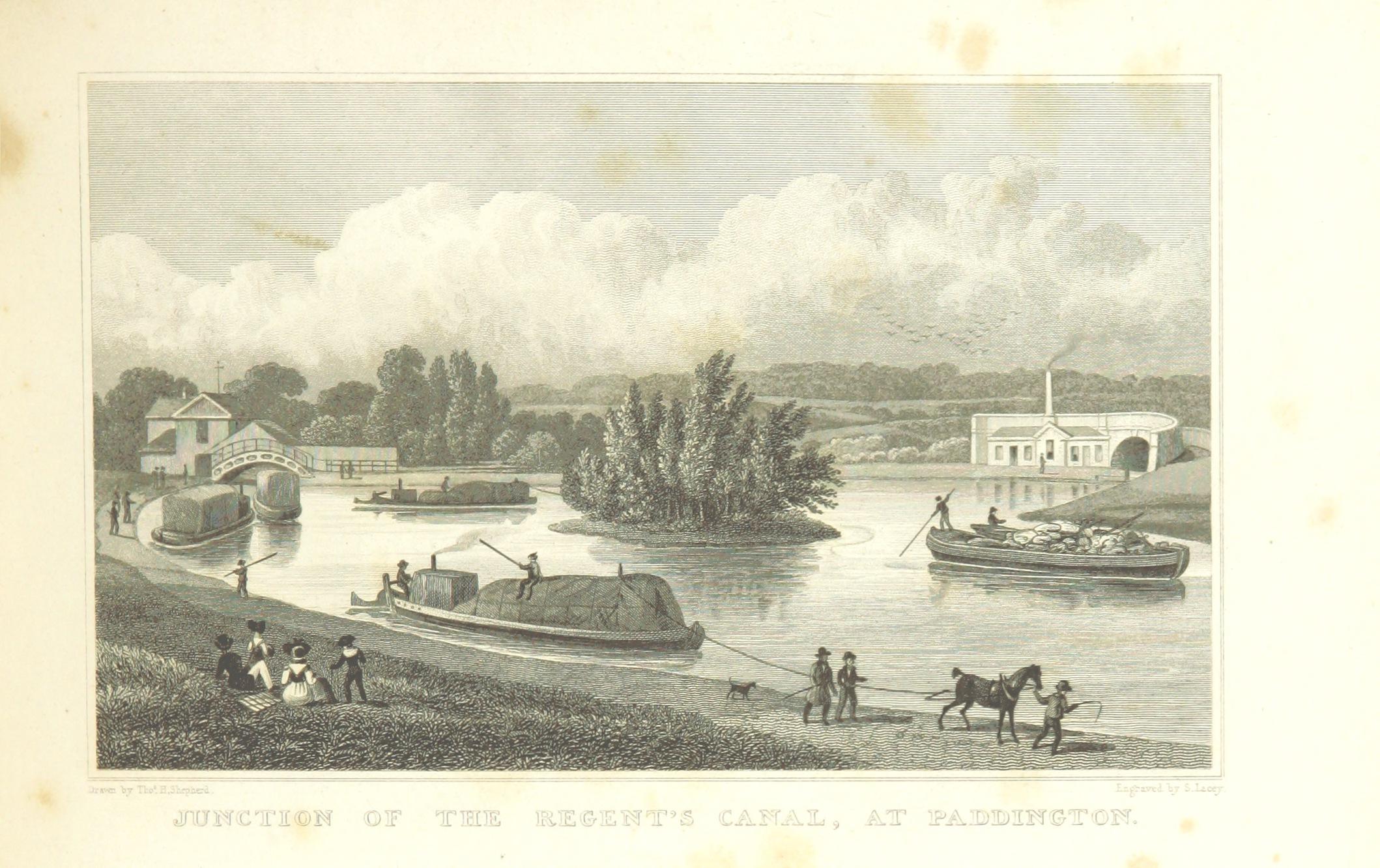 Regent's Canal at Paddington, 1828