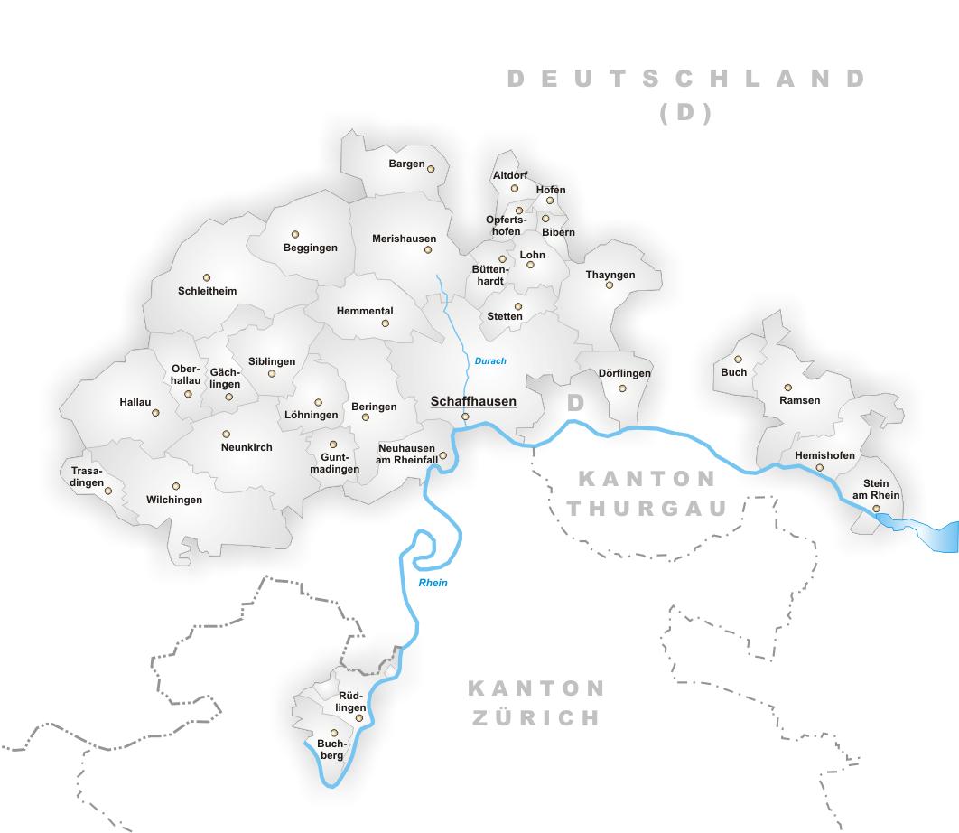 FileKarte Gemeinden des Kantons Schaffhausenpng Wikimedia Commons