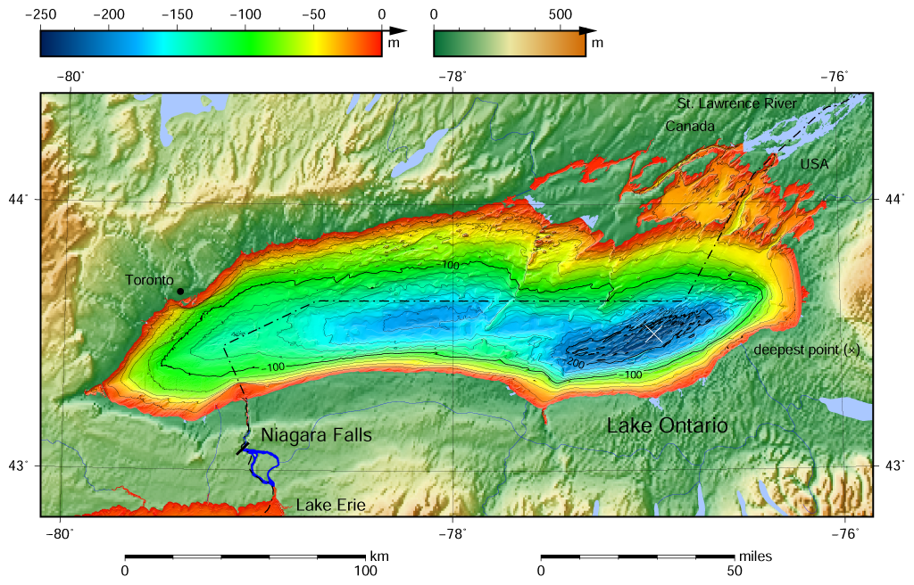 FileLake Ontario Bathymetry Mappng Wikimedia Commons - Water depth map