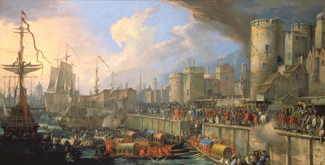 File:Luca Carlevarijs Einzug der venezianischen Gesandten in London 1707.jpg