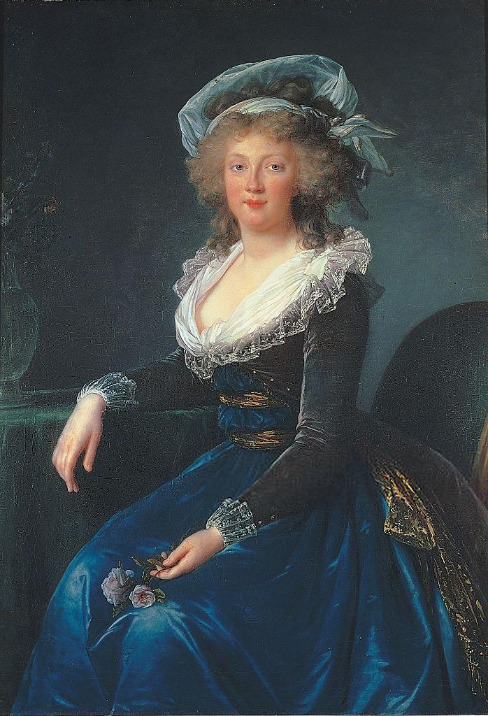 Marie-Thérèse de Bourbon-Naples, portrait de Élisabeth Vigée-Le Brun, 1790.
