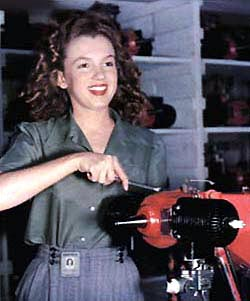Marilyn Monroe as Norma Jean Dougherty