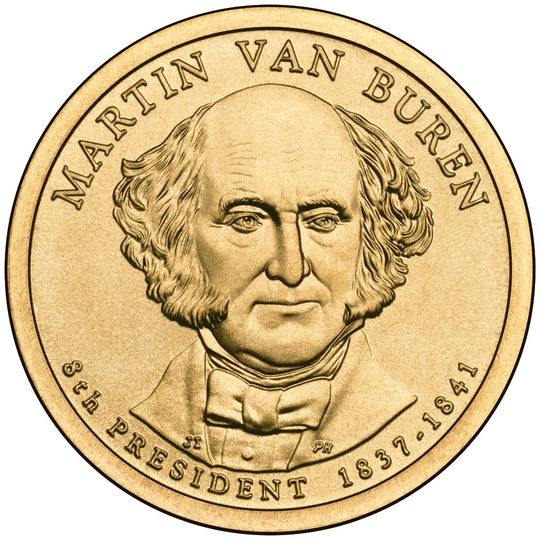 filemartin van buren presidential 1 coin obversejpg