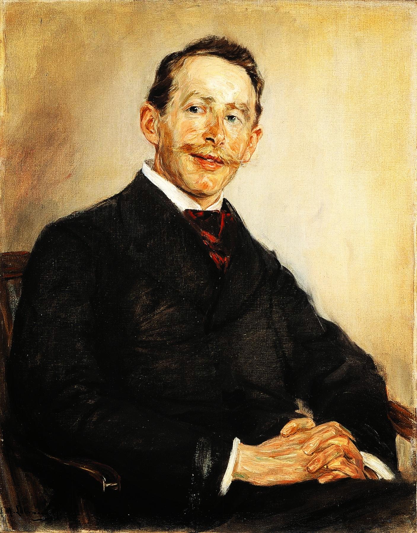 Wikipedia.en. Linde, portrettert av Max Liebermann