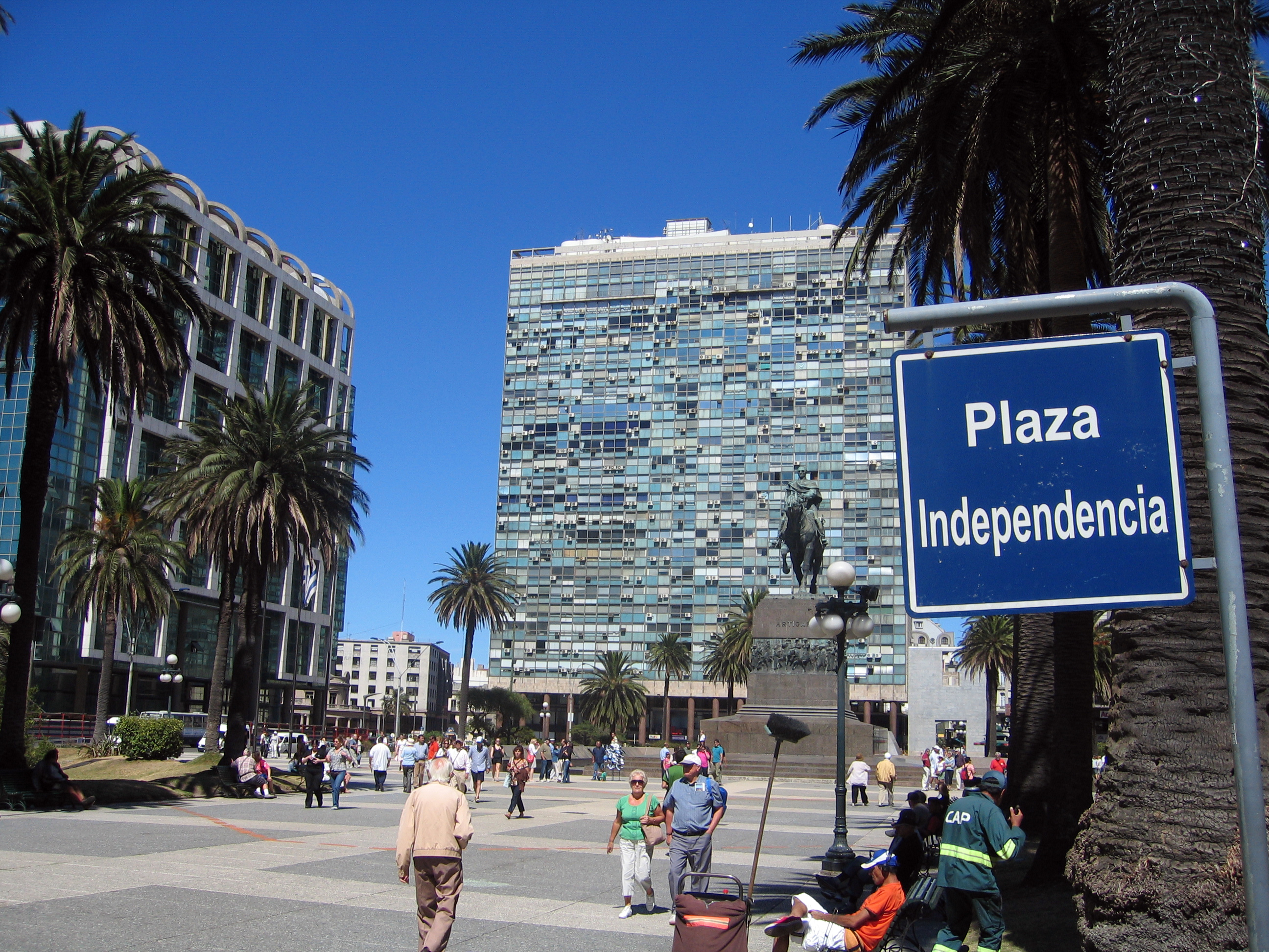 Montevideo Uruguay  City new picture : Montevideo plaza independencia Wikimedia Commons