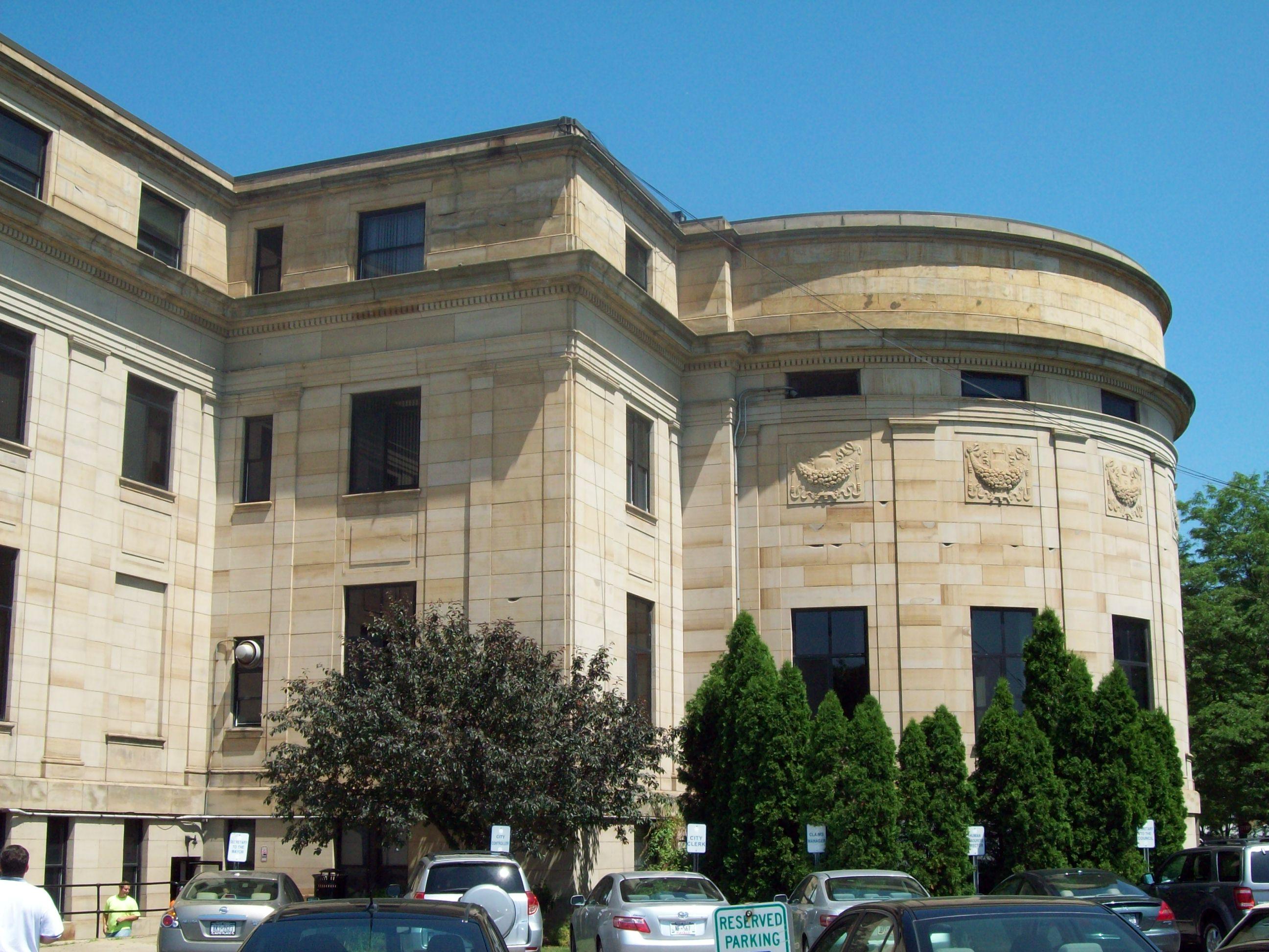 File Niagara Falls City Hall Rear Jun 09 Jpg Wikimedia Commons