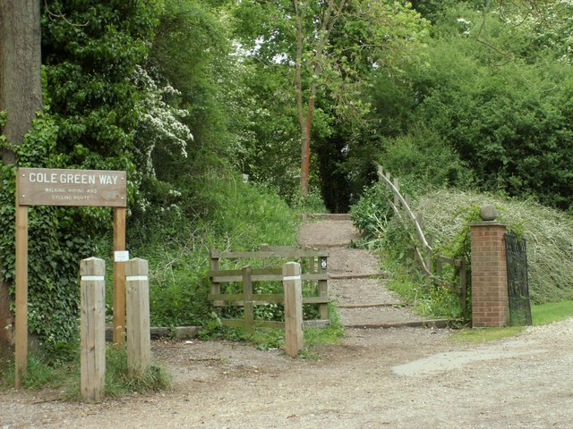 One of the entrance-exit points to the Cole Green Way - geograph.org.uk - 1321646